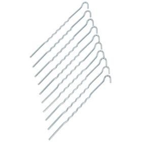 CAMPZ - Sardines acier ondulé 22 cm - gris